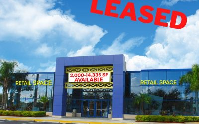 Prime Retail Space Leased