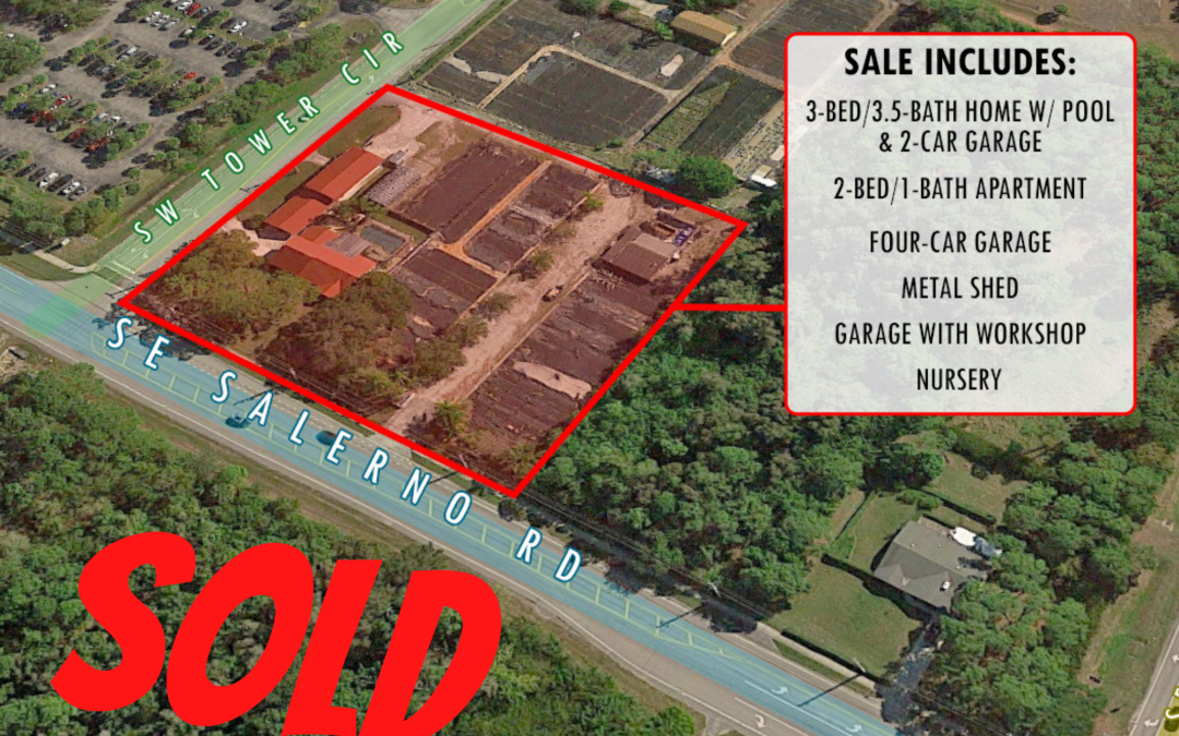 Residential and Commercial Estate Sold